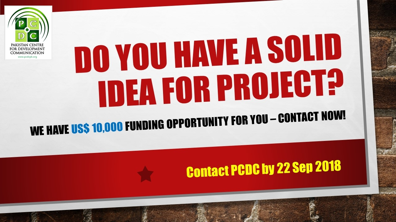 DO You have a solid Idea for project
